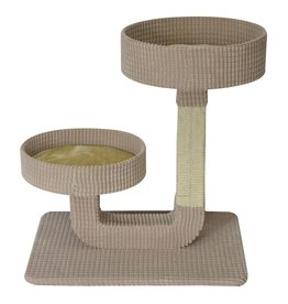 Dog & cat Cat Tree Scratcher - Double Pedestal - 24""