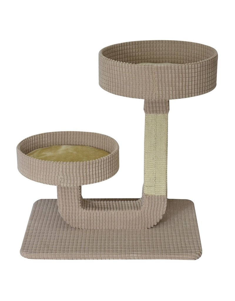 "Dog & cat Cat Tree Scratcher - Double Pedestal - 24"""