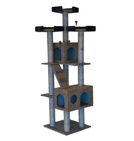 Dog & cat (W) Cat Tree Scratcher - Tower - 72""