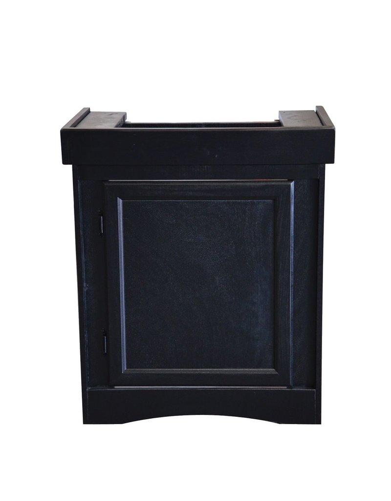 "Aquaria (W) Monarch Cabinet Stand - Black - 24"" x 12"""