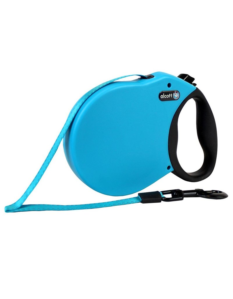 Dog & cat (W) Adventure Retractable Leash - Blue - Small