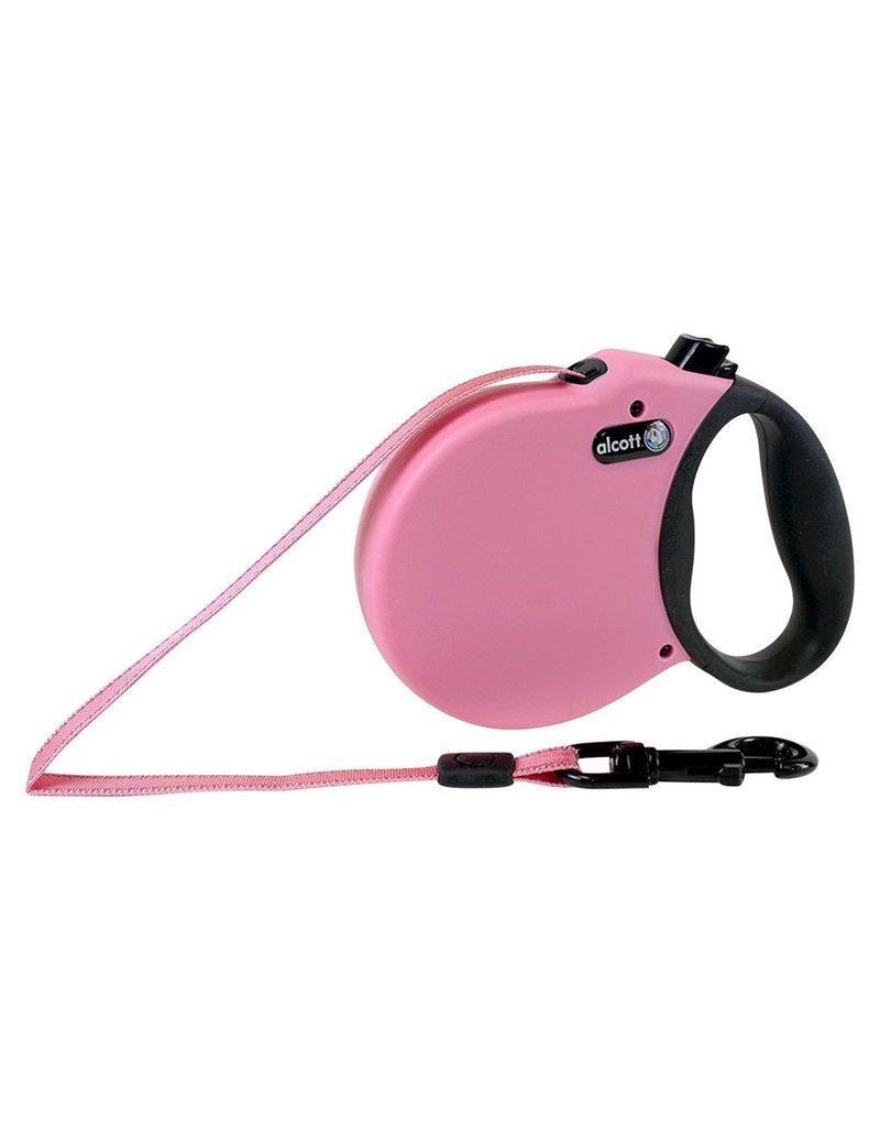 Dog & cat (W) Adventure Retractable Leash - Pink - Small