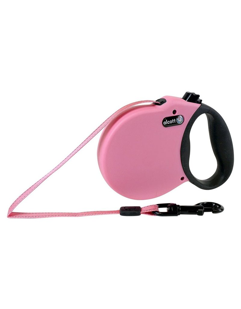 Dog & cat (W) Adventure Retractable Leash - Pink - Medium