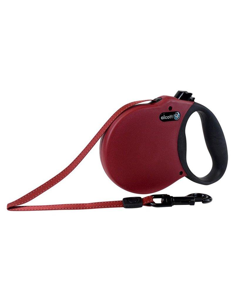Dog & cat (W) Adventure Retractable Leash - Red - X-Small