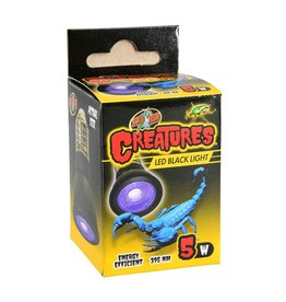 Reptiles Zoo Med Creatures LED Black Light - 5 W