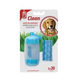 Dog & cat Dogit Bag Dispenser - 2 Rolls/20 Bags - 29.5 x 23 cm (11.6 x 9 in) - Blue