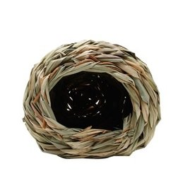 Small Animal Living World Hangout Grass Hut - Small - 14 x 14 x 11.4 cm (5.5 x 5.5 x 4.5 in)