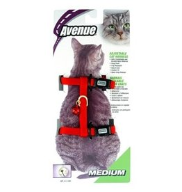 Dog & cat (D) Avenue Adjustable Nylon Medium Cat Harness (LC)