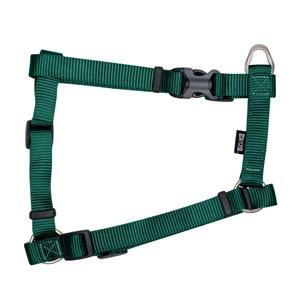 "Dog & cat Zeus Nylon Dog Harness - Forest Green - Large - 2 cm x 45-70 cm (3/4"" x 18""-27"")"