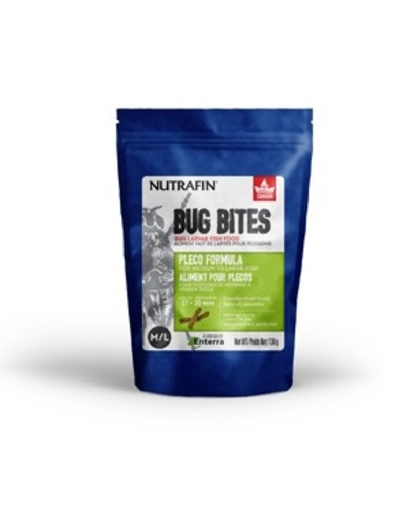 Aquaria Nutrafin Bug Bites Bottom Feeder Small-Medium 1.4-1.6mm Granules for Corys, Loaches and Wide Mouth Catfish
