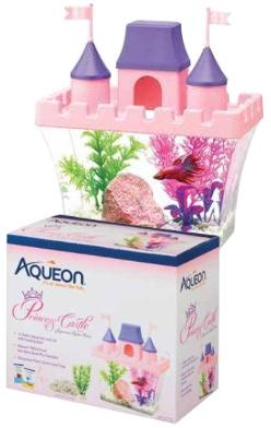 Aquaria AQ Betta Princess Castle Aquarium Kit