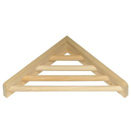 Bird (W) Prevue Hendryx Wood Corner Shelf - 7""