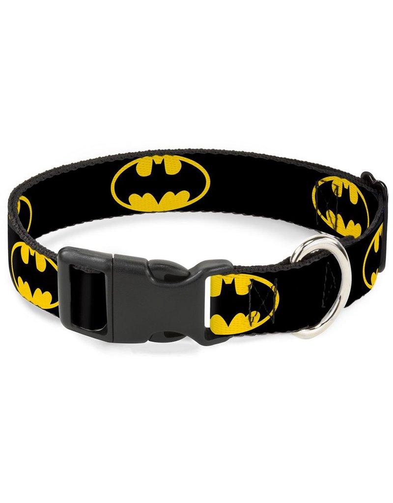 Dog & cat (D) Batman Shield Collar - Large