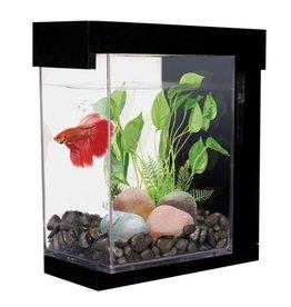 Aquaria (W) MA EZ Care Betta Aquarium, 1 G. Black