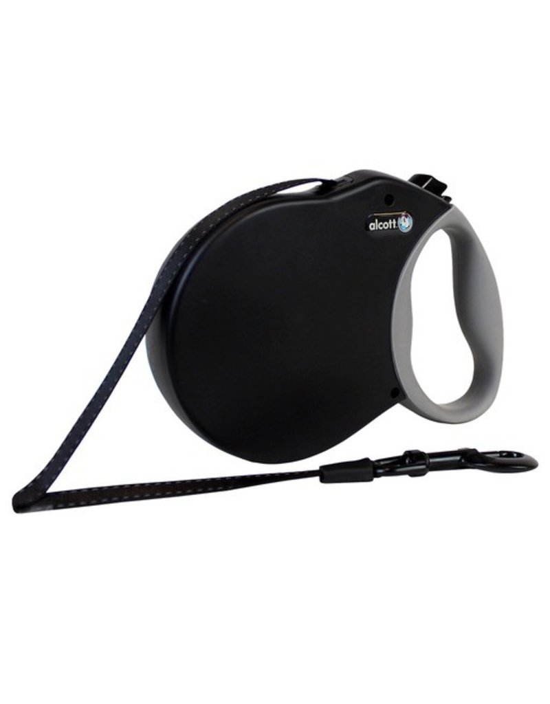 Dog & cat (W) Adventure Retractable Leash - Black - Small