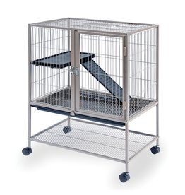 Small Animal (W) Prevue Hendryx<br /> Frisky Ferret Cage - Silver - 25.13&quot; x 17.13&quot; x 33.75&quot;