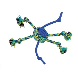 Dog & cat (W) K9 Fitness by Zeus Rope and TPR Spider Ball - 30.48 cm dia. (12 in dia.)