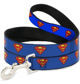 Dog & cat (D) Superman Shield Blue Leash