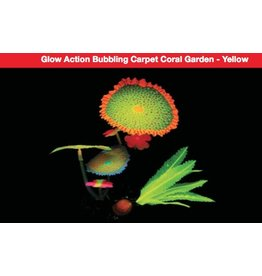 Aquaria UT Glow Action Bubbling Carpet Coral Garden - Yellow