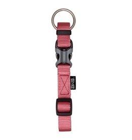 "Dog & cat Zeus Adjustable Nylon Dog Collar - Salmon - XLarge - 2.5 cm x 42 cm-65 cm (1"" x 16""-26"")"