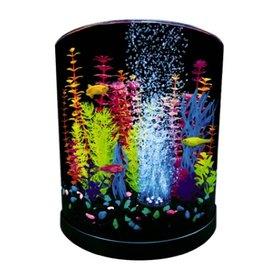 Aquaria (D) GloFish Half Moon with Blue LED Bubbler 3 Gallons