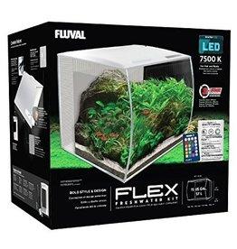 Aquaria (P) Fluval Flex Aquarium, White, 57L,15gal
