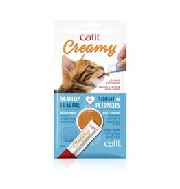 Dog & cat Catit Creamy Lickable Cat Treat - Scallop Flavour - 5 pack