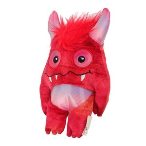 Dog & cat (W) All for Paws - Monster Bunch Toy - Red
