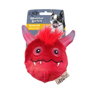 Dog & cat (W) All for Paws - Monster Bunch Ball - Red
