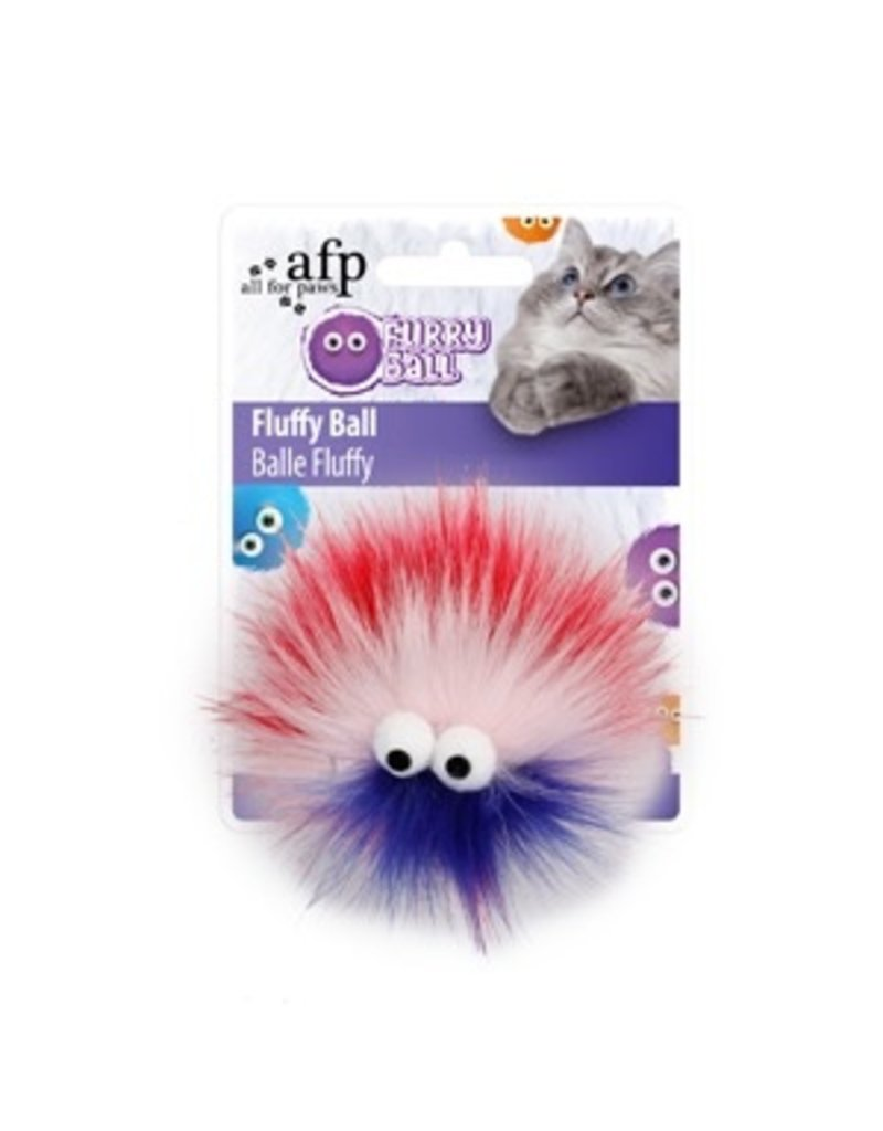 Dog & cat (W) All for Paws - Furry Ball Fluffy - Red