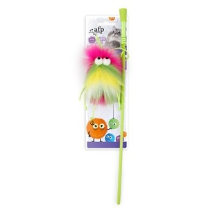 Dog & cat (W) All for Paws - Furry Ball Fluffer Wand - Pink