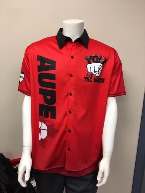 AUPE Centennial Sublimated  Bowling Shirt