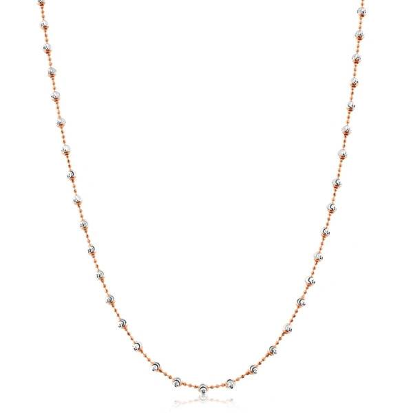 Officina Bernardi Bernardi Sterling Silver and 18K Rose Gold Overlay Necklace 30in