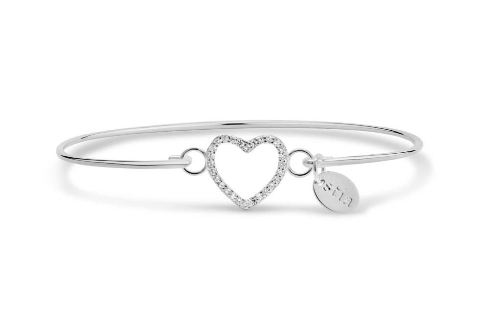 Stia Stia: Pavé Icon Bracelet Open Heart