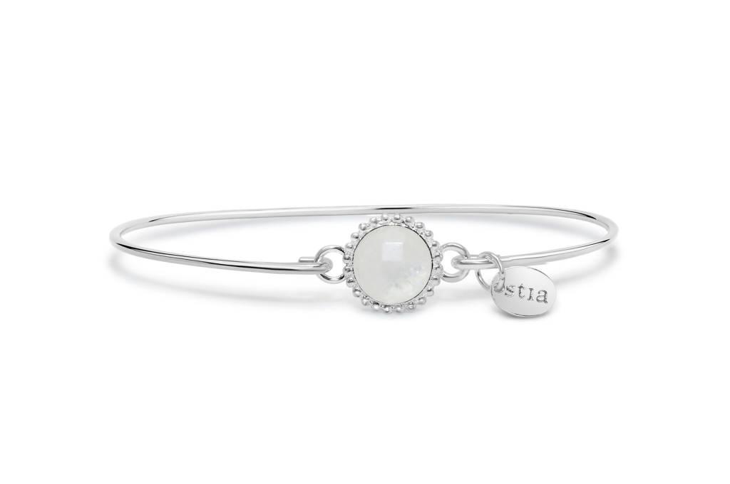 Stia Stia: Sterling Mini Cuff Bracelet Moon Stone