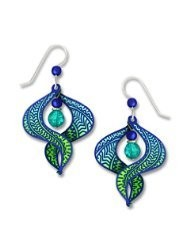 Adajio by Sienna Sky Ombre Blue Aqua and Green Figure 8 Earrings 7615