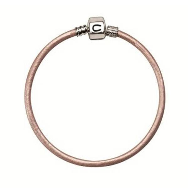 Chamilia Chamilia 7.1 in  Bracelet - Pink Champagne Metallic Leather