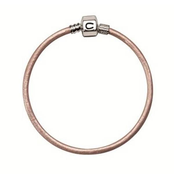 Chamilia Chamilia 7.9 in Bracelet- Pink Champagne Metallic Leather