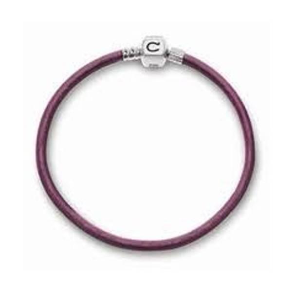 Chamilia Chamilia 7.9 in Bracelet -  Auberjine Metallic Leather