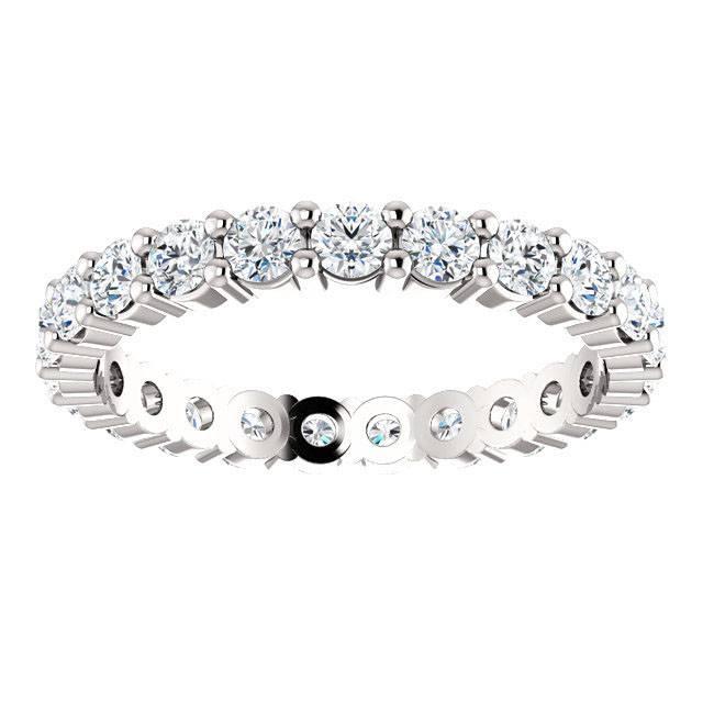 14K White 1-3/8 CTW Diamond Eternity Band G-H SI2-SI3 Size 7