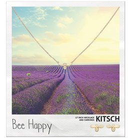 Kitsch Kitsch-Bee Happy Gold Set of Necklace & Earrings