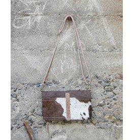 Chloe & Lex Crossbody Bag-Ranch Clutch, Brown