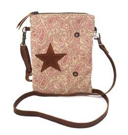 Chloe & Lex Crossbody Bag-Hipster Pink Paisley