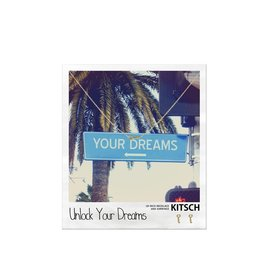 Kitsch Kitsch-Unlock Your Dreams Gold Set of Necklace & Earrings
