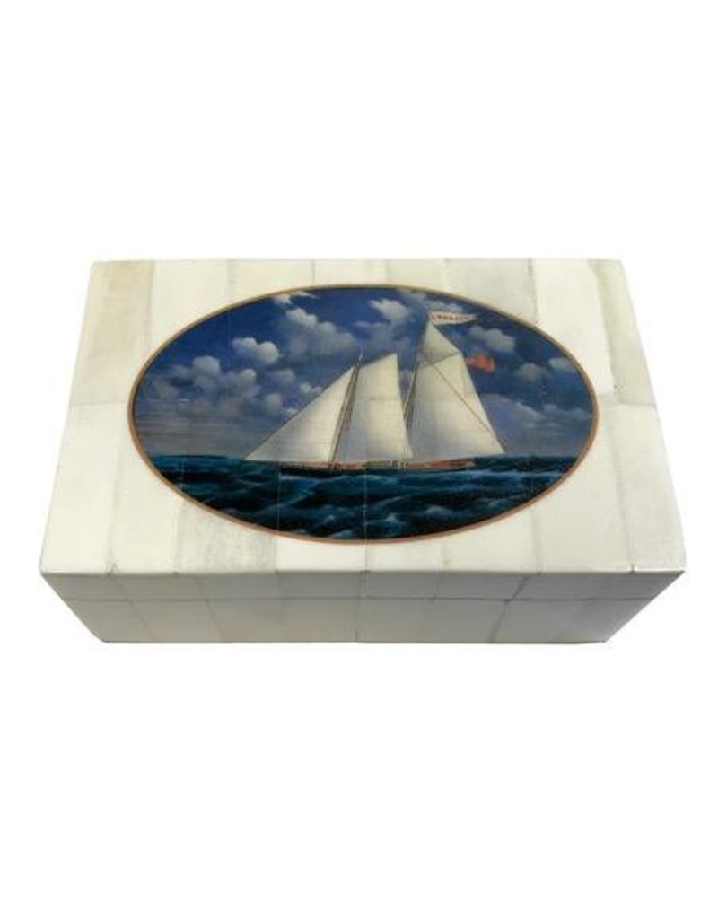 "White Bone Box 5.25"" -Print ""USS America"""