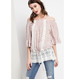 Easel Top-Bell Sleeve Challie Tunic