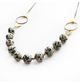 Larissa Loden Necklace-Shapeshifter, DALMATION JASPER