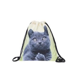 Sihnderella Drawstring Bag-Kitty Cat F**k