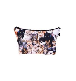 Make Up Bag-Digital Clowder of Cats
