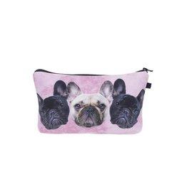 Make Up Bag-Digital French Bulldog Trio